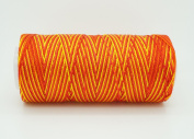 VARIEGATED ORANGE YELLOW 0.6mm 100% Nylon Twisted Cord Thread Micro Macrame Beading Knitting Crochet Needle Crafts