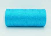 TURQUOISE 0.6mm 100% Nylon Twisted Cord Thread Micro Macrame Beading Knitting Crochet Needle Crafts