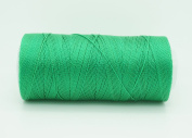 GREEN 0.6mm 100% Nylon Twisted Cord Thread Micro Macrame Beading Knitting Crochet Needle Crafts