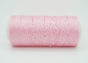 LIGHT PINK 0.6mm 100% Nylon Twisted Cord Thread Micro Macrame Beading Knitting Crochet Needle Crafts