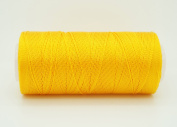 GOLDEN YELLOW 0.6mm 100% Nylon Twisted Cord Thread Micro Macrame Beading Knitting Crochet Needle Crafts