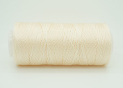 LIGHT BEIGE 0.6mm 100% Nylon Twisted Cord Thread Micro Macrame Beading Knitting Crochet Needle Crafts