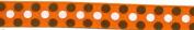 Grosgrain Brown Ribbon Orange Coloured Dots