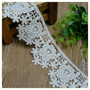 White 3 Yards Fabric Venise Lace Trim Dress Lace Craft Lace Sewing Lace 5.9cm Wide