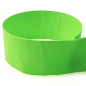 USA Made 2.5cm - 1cm Lime Green Solid Grosgrain Ribbon - 100 Yards -