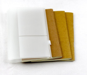 Passion Travellers Journal Refillable paper Traveller Notebook inner booklets yellow blank paper for 16*10cm