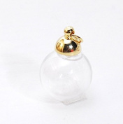 Glass with cans of glass dome gold cap ball glass resin necklace earrings accessories parts