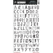 Documented Faith Clear Stickers 15cm x 30cm -Faith Alphabet