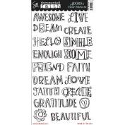 Documented Faith Clear Stickers 15cm x 30cm -Faith Big Words