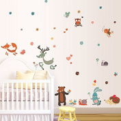 Moon Stars Girl Night Lighting Wall Decal PVC Home Sticker House Vinyl Paper Decoration WallPaper Living Room Bedroom Kitchen Art Picture DIY Murals Girls Boys kids Nursery Baby Playroom Decor