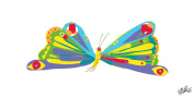 Marmont Hill Eric Carle's The Very Hungry Caterpillar Vector Butterfly-8C Canvas Wall Art, 90cm by 46cm