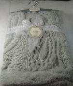 Kyle & Deena Soft Plush Baby Blanket Light Grey 80cm x 80cm 100% Polyester