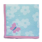 Wings Applique Blanket in Pink