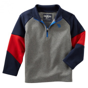 Oshkosh Boys Raglan Active Pullover; Grey/Red/Navy, 24 Months