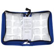 FLexiFreeze Pocketbook Cooler, Teal/Blue