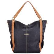 timi & lislie Marcelle 7-Piece Nappy Bag Set - Black/Saddle