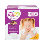 BABY nappies PREMIUM SIZE 6, 54 CT