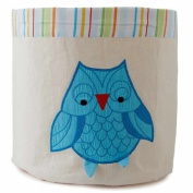Little Acorn F13S01 Small Baby Blue Owl Storage Bin