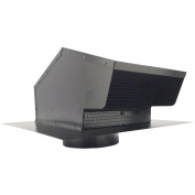 """BUILDERS BEST 012633 Black Metal Roof Vent Cap (15cm """" Collar) Home, garden & living"""