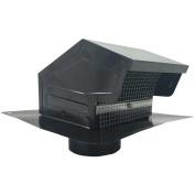 """BUILDERS BEST 012635 Black Metal Roof Vent Cap (10cm """" Collar) Home, garden & living"""