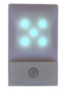 TukTek Kids First 5 LED PIR Automatic Motion Activated Night Light Battery Operated Wall Mount in Bedrooms & Halls