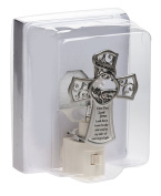 Watch Over Me 10cm x 7.6cm Electrical Night Light with Inspirational Cross Plate