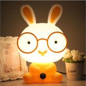 Cartoon Rabbit Night Light Children's Bedroom Table Desk Lamp Christmas Gift Valentine's Day 2016