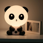 Baby Panda Night Light Cartoon Table Desk Bed Sleeping Lamp for Christmas Gift