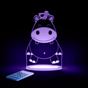Hippo Night Light, LED 12 colours with interactive remote