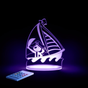 Pirate Night Light, LED 12 colours with interactive remote