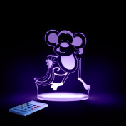 Monkey Night Light, LED 12 colours with interactive remote