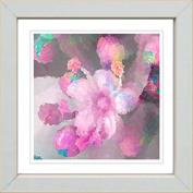 Works Modern 'Pink Pearl Flower' Framed Print