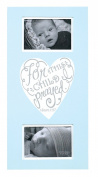 Baby Boy Blue Wall Plaque Photo Frame - For This Child I Prayed