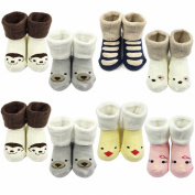 Allydrew Smiley Animal Face Socks for Baby