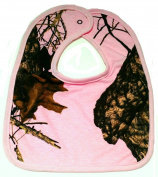 Mossy Oak Breakup Camo Pink Medium Baby Bib #NBB3PMC