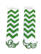 Rush Dance White Green Chevron Ruffles St Patrick's Day Baby/ Toddler Leg Warmer