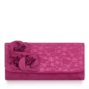 Ruby Shoo Milan Fuchsia Clutch Bag