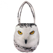 Handmade Digital Graphic Owl Indian Handbag - All-Over Print - Polyester Faux Silk - 12 x 30cm x 60cm