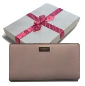 Kate Spade New York Newbury Lane Stacy Posy Pink Clutch Wallet Saffiano WLRU1601 with Bagity Gift Box