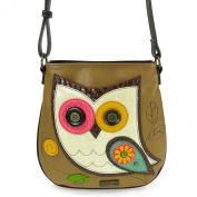 Deluxe Crossbody-Owl II, Brown, 10.5 x 3.8cm x 27cm