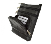 Unisex Cross Body Genuine Leather Bag by Marshal® Wallet
