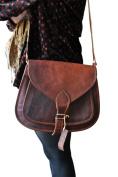 Phoenix Craft Women's Leather Purse Gypsy Bag Crossbody Women Handbag Shoulder Travel Satchel Tote Bag 14x10x4 Inhes Brown