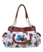 Cara Accessories Red Hearts Tote