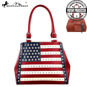 Montana West American Flag Star Studded Concealed Carry Handbag