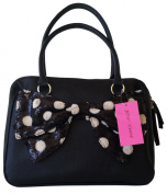 Betsey Johnson Satchel - Sequin Polka Dot Bow - BB16815