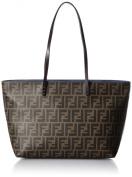 FENDI Zucca pattern 8BH198-00G87/F0E32 Leather Tote Bag