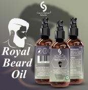 Cavin Schon Royal Beard Oil and - 100% Natural - Softens Your Beard and Stops Itching - With Nourishing Jojoba Oil, Organic Argan Oil, Evening Primerose.