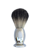 100% Super Fine Badger Shaving Brush with Classic Chrome Handle By Edward London & Co.