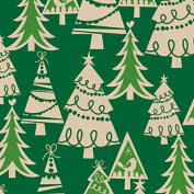Holiday Forest Kraft Christmas Wrapping Paper - 9.3sqm