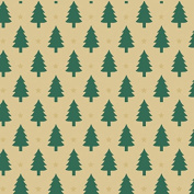 Little Trees Kraft Christmas Wrapping Paper - 9.3sqm